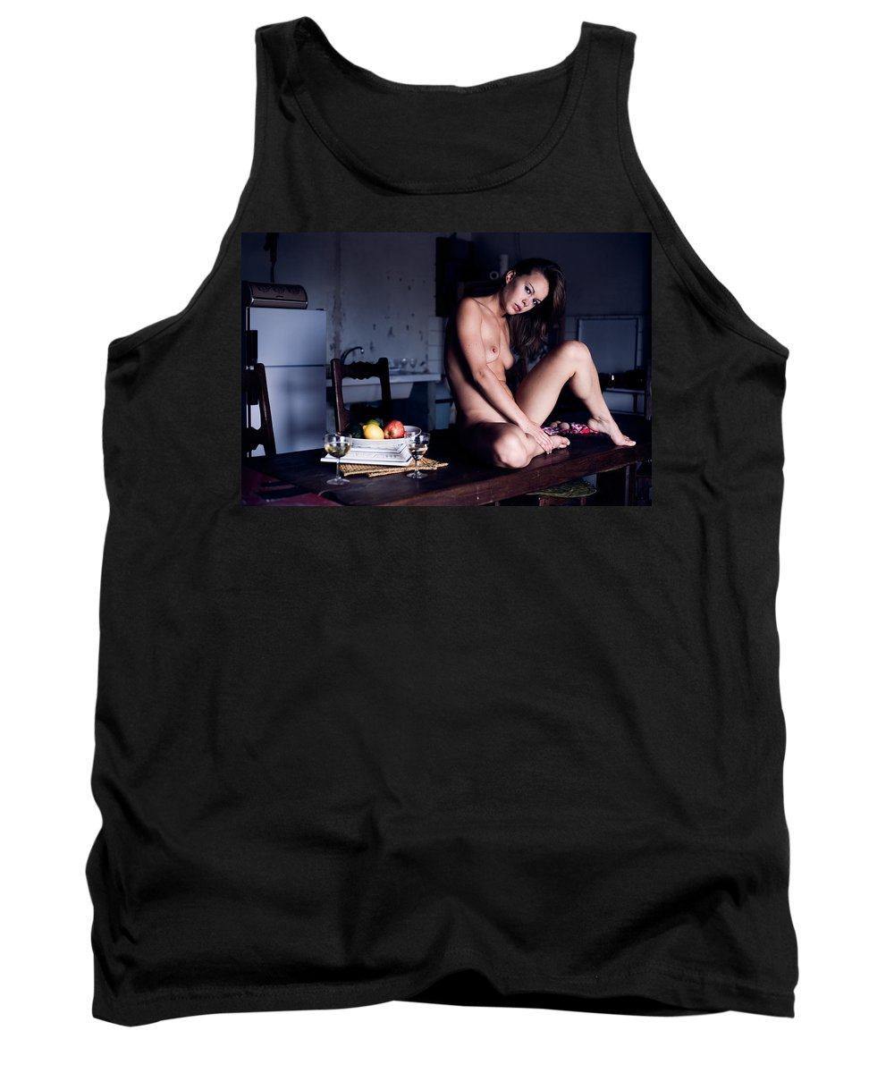 Sensual Tank Top featuring the photograph Maybe Or Maybe Not by Olivier De Rycke