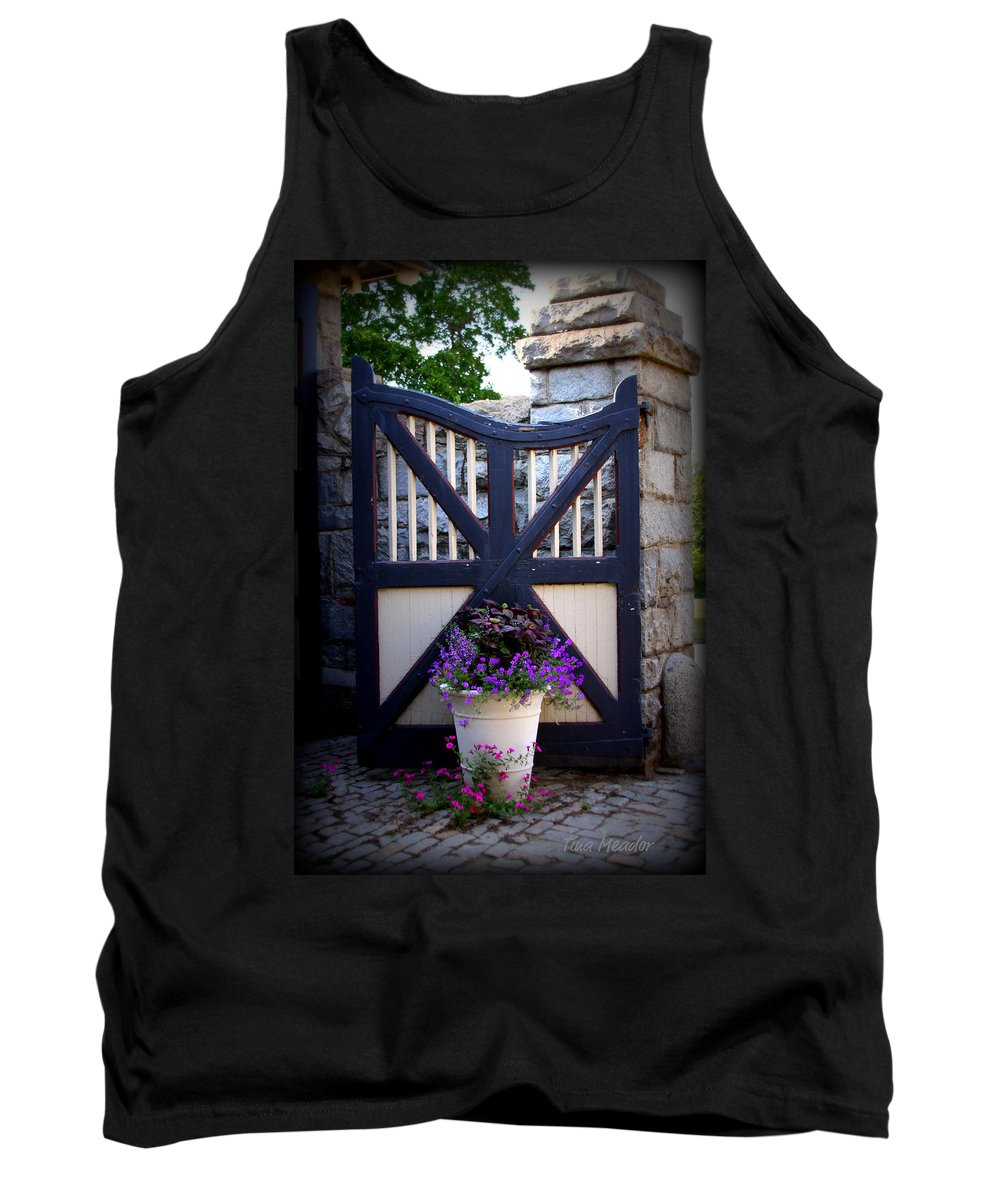 Maymont Tank Top featuring the photograph Maymont Gate by Tina Meador