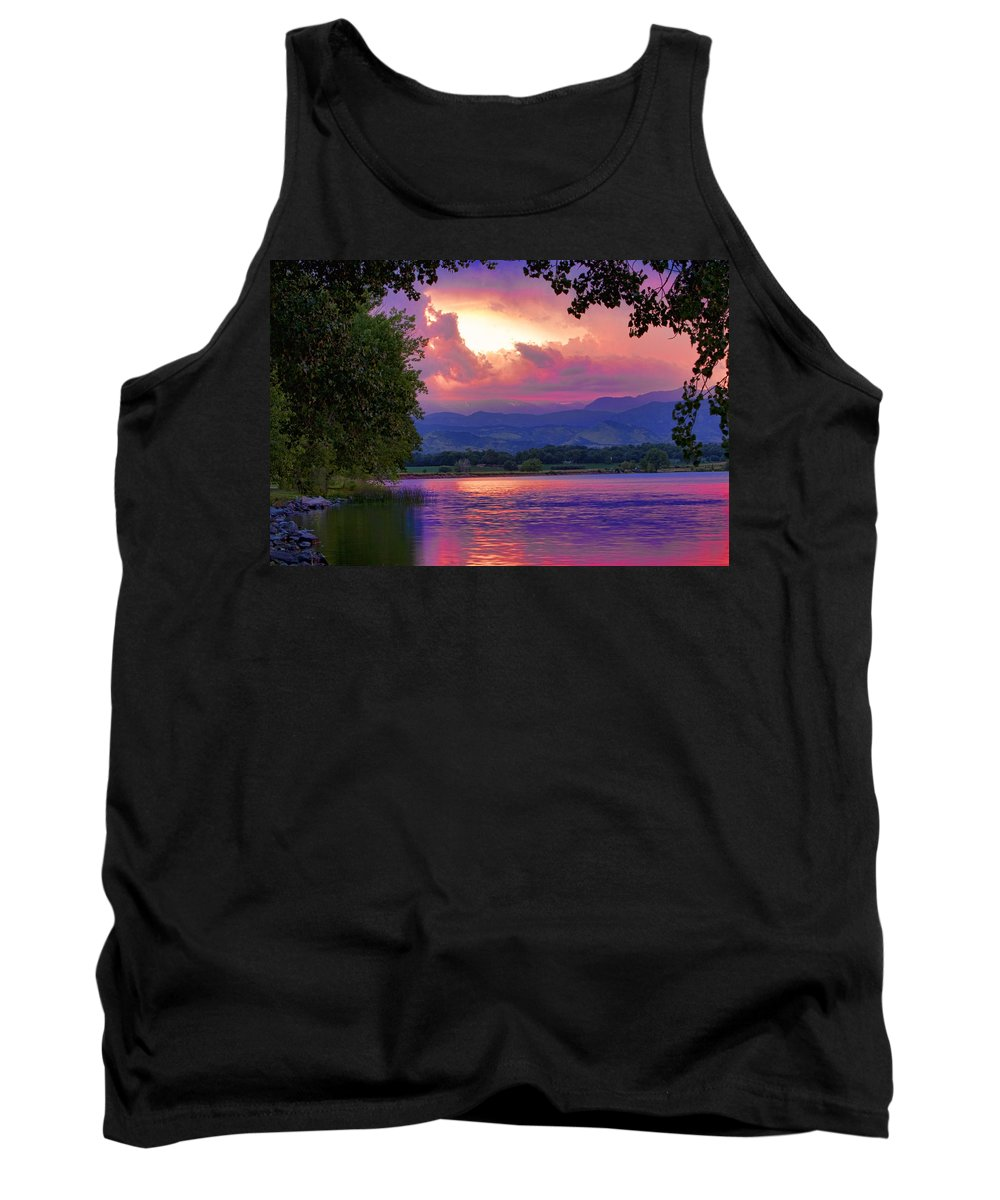 Sunsets Tank Top featuring the photograph Mcintosh Lake Sunset by James BO Insogna