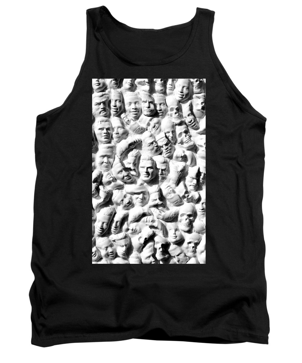 Figure Tank Top featuring the sculpture Melancholic Journey 1 by Mark Cawood