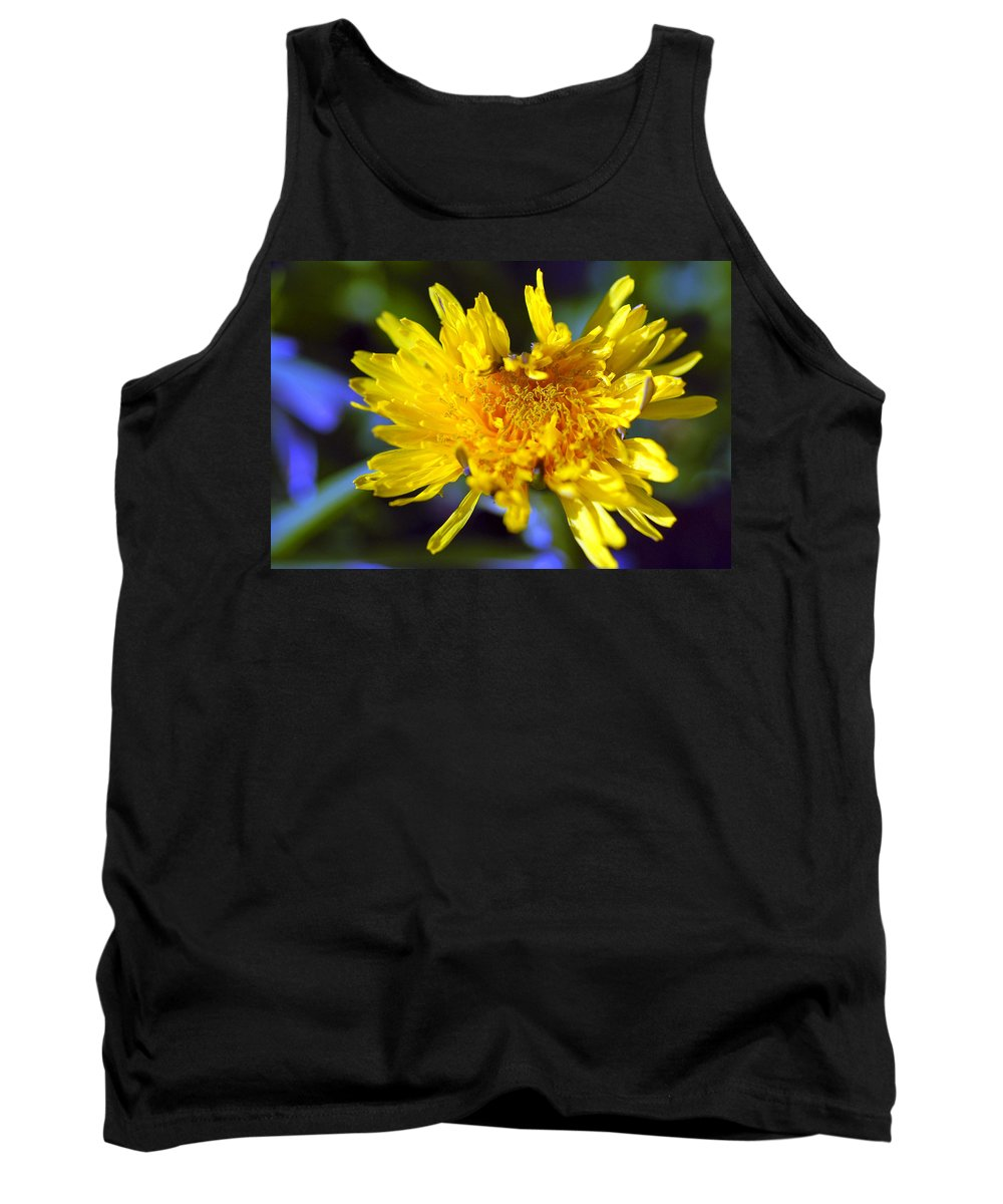 Flower Tank Top featuring the photograph Mello Yello by Stephen Anderson