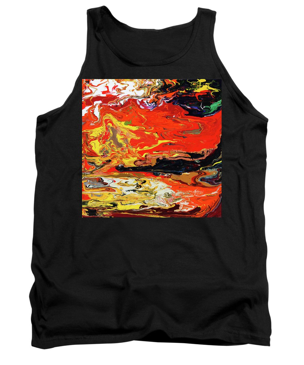 Fusionart Tank Top featuring the painting Melt by Ralph White