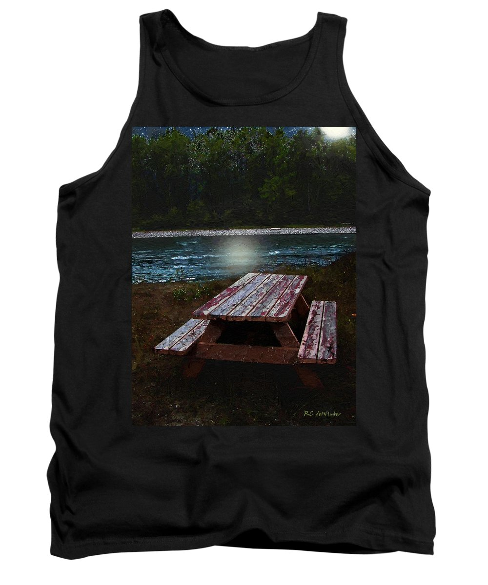Autumn Tank Top featuring the painting Memories Of Summers Past by RC DeWinter