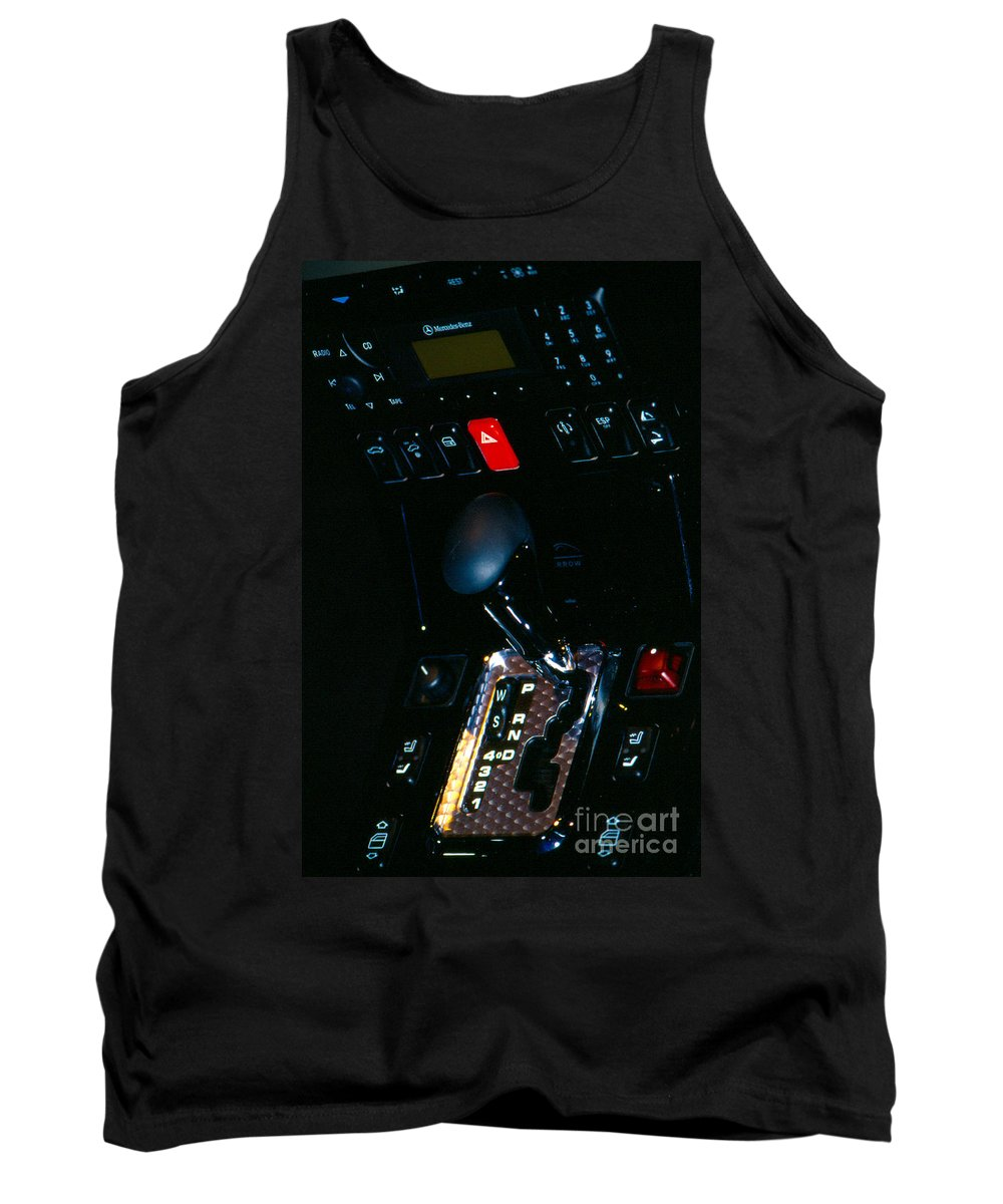 Transportation Tank Top featuring the photograph Mercedes Benz Roadster Console by Alan Look