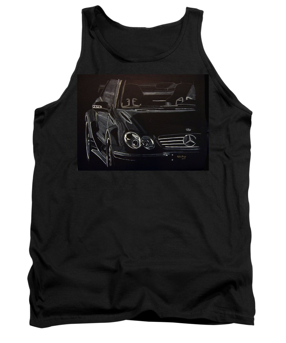 Merc Tank Top featuring the painting Mercedes Sl by Richard Le Page