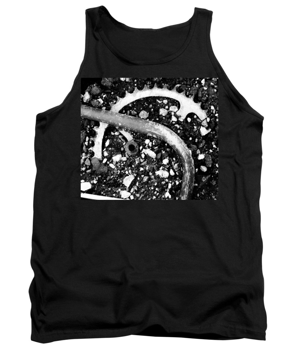 Metal Tank Top featuring the photograph Metallic Curves by Angus Hooper Iii