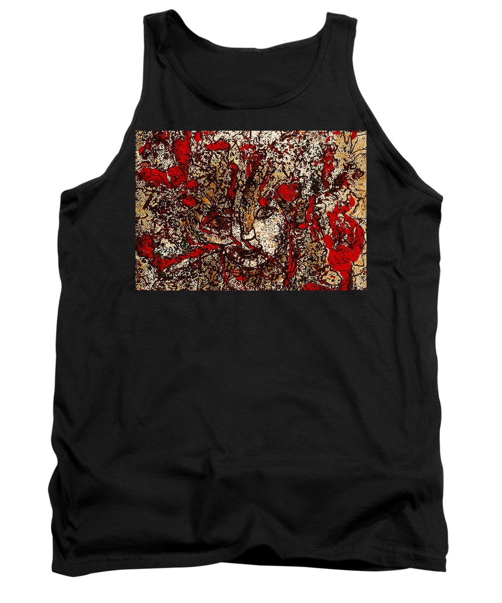 Fantasy Tank Top featuring the painting Metamorphosis by Natalie Holland