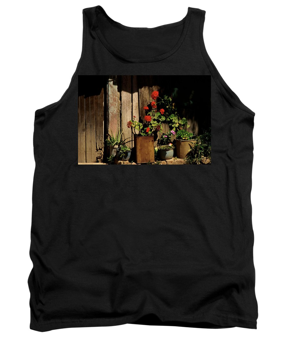 Flowers Tank Top featuring the photograph Mexican Geraniums by Jerry McElroy