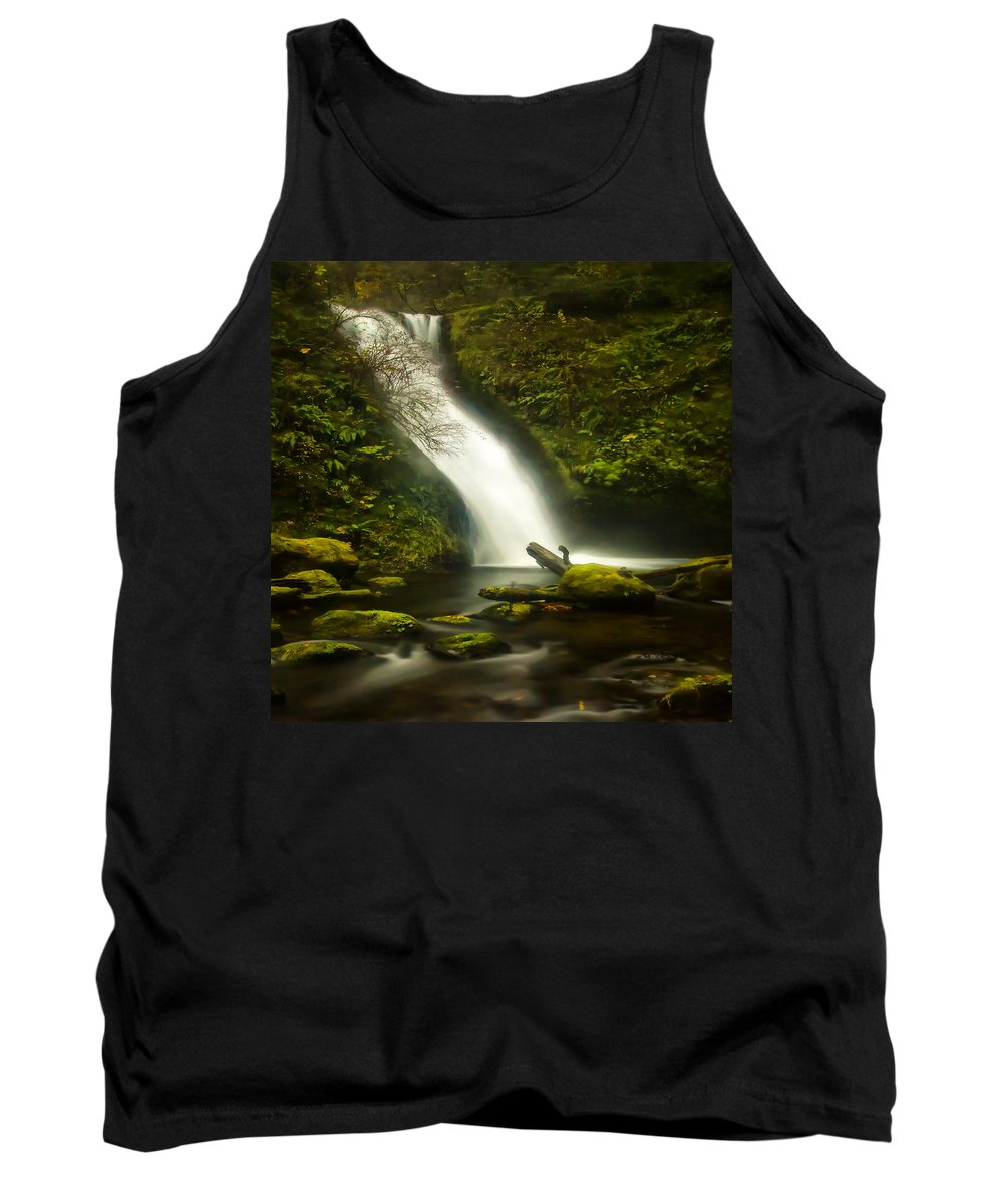 Clearwater Falls Tank Top featuring the photograph Middle Bridal Veil Falls by Ingrid Smith-Johnsen