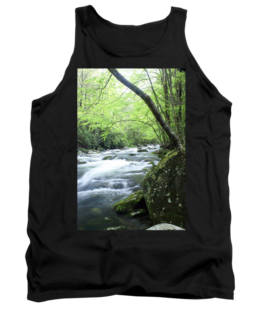 Stream Rive Tank Top featuring the photograph Middle Fork River by Marty Koch