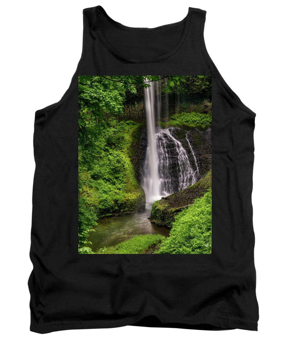 Cave Tank Top featuring the photograph Middle North Falls by Michele James