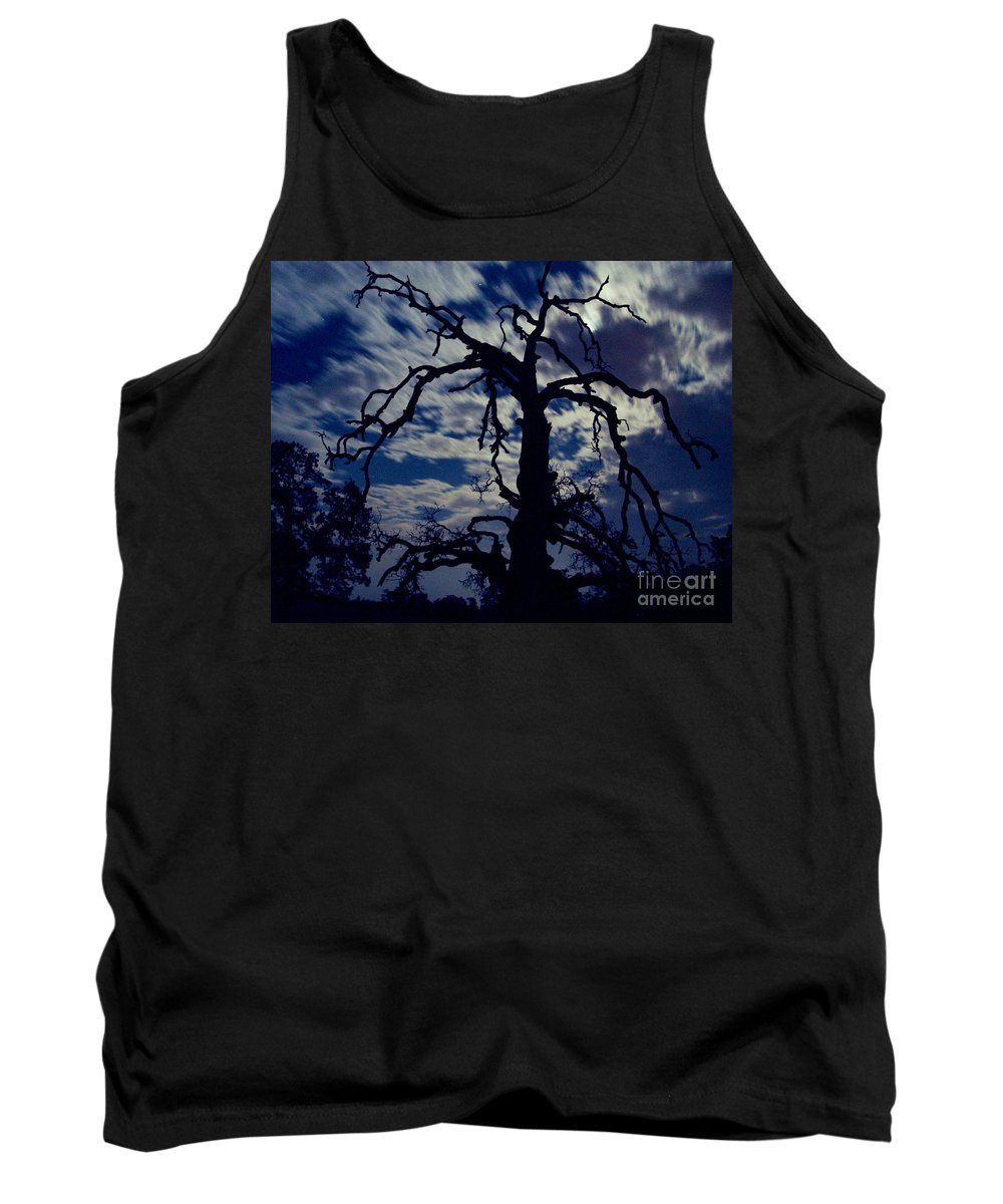 Clouds Tank Top featuring the photograph Midnight Blue by Peter Piatt