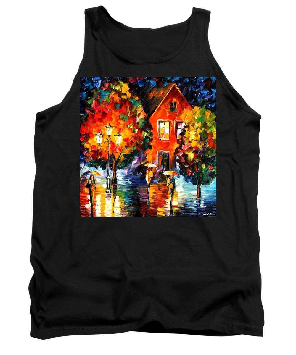 Afremov Tank Top featuring the painting Midnight Rain by Leonid Afremov