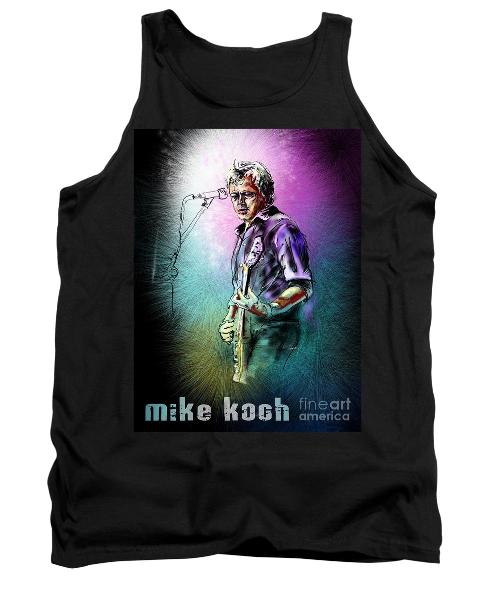 Mike Koch Portrait Tank Top featuring the digital art Mike Koch by Miki De Goodaboom