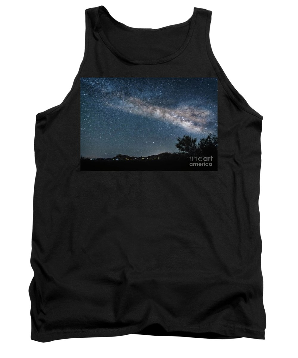 Milky Way Tank Top featuring the photograph Milky Way 1 by Larry White