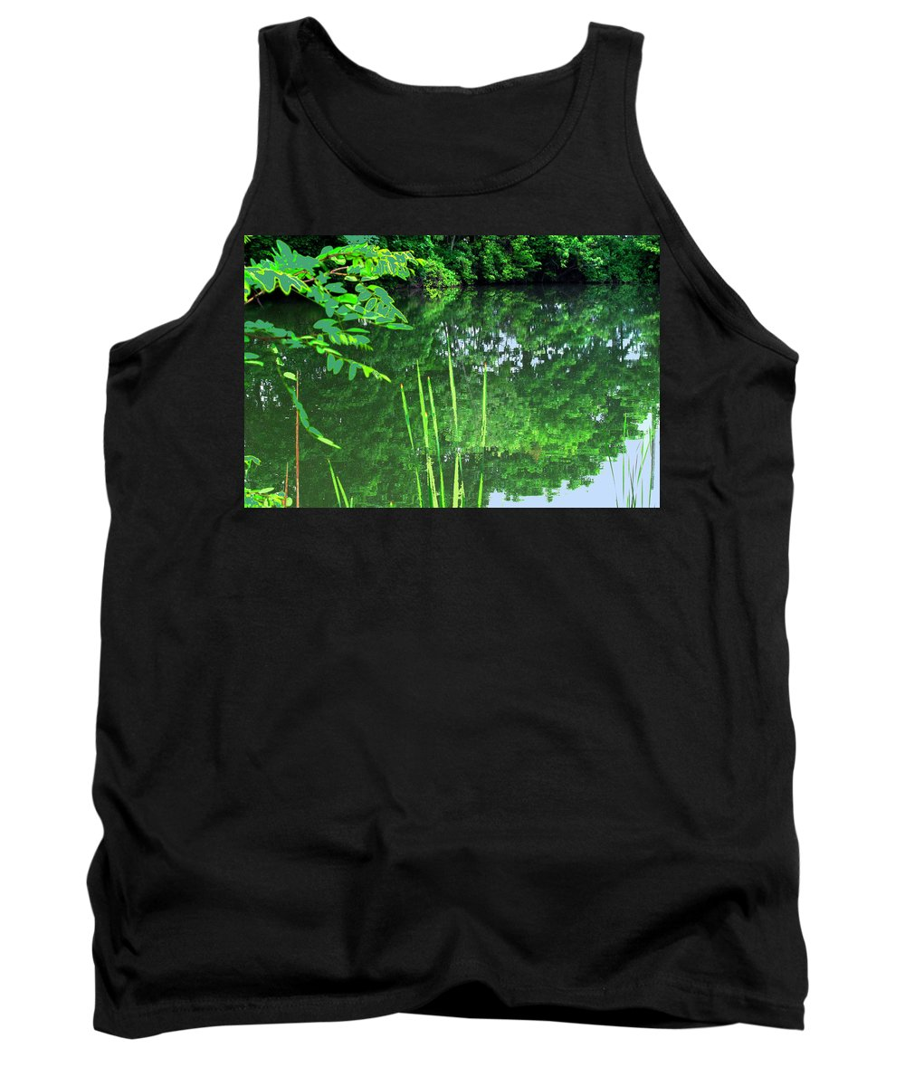 Black Creek Tank Top featuring the photograph Mill Pond Reflections by Ian MacDonald