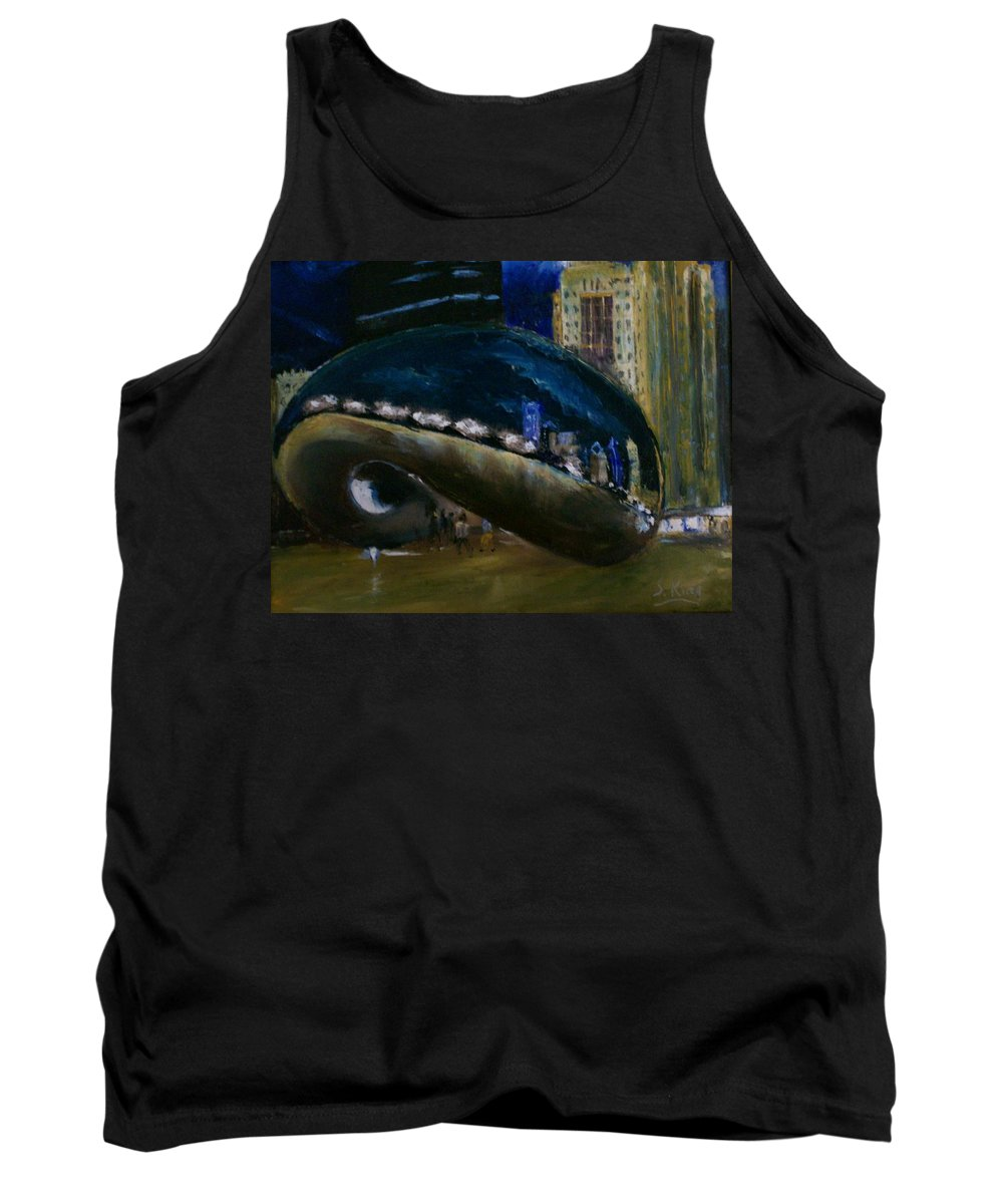 Cityscape Tank Top featuring the painting Millennium Park - Chicago by Stephen King