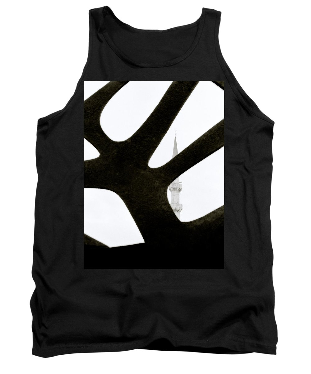 Abstract Tank Top featuring the photograph Minaret And Art by Shaun Higson