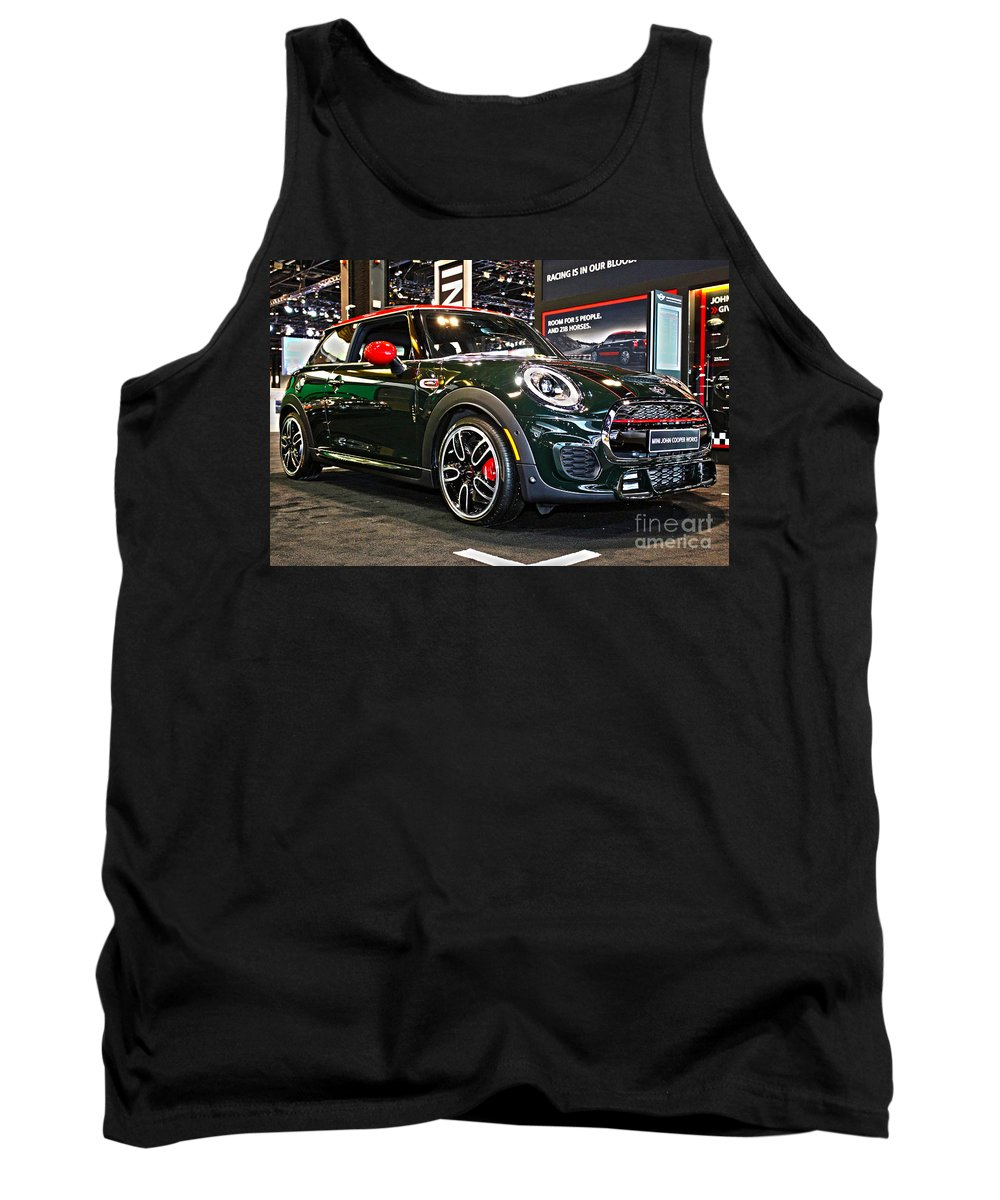Auto Tank Top featuring the photograph Mini John Cooper Works by Alan Look