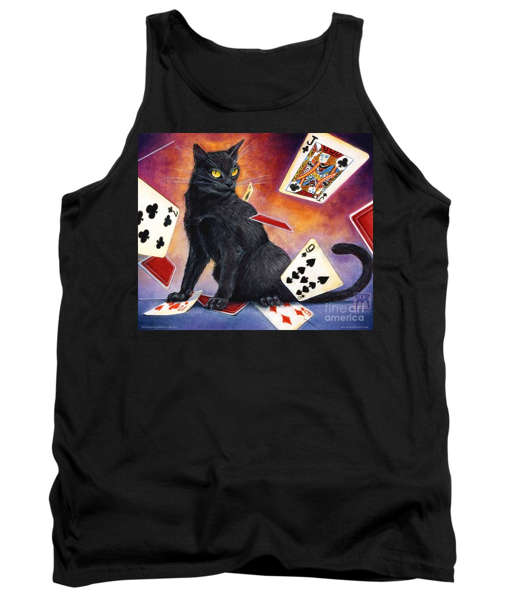 Cat Tank Top featuring the painting Mischief Kitten by Melissa A Benson