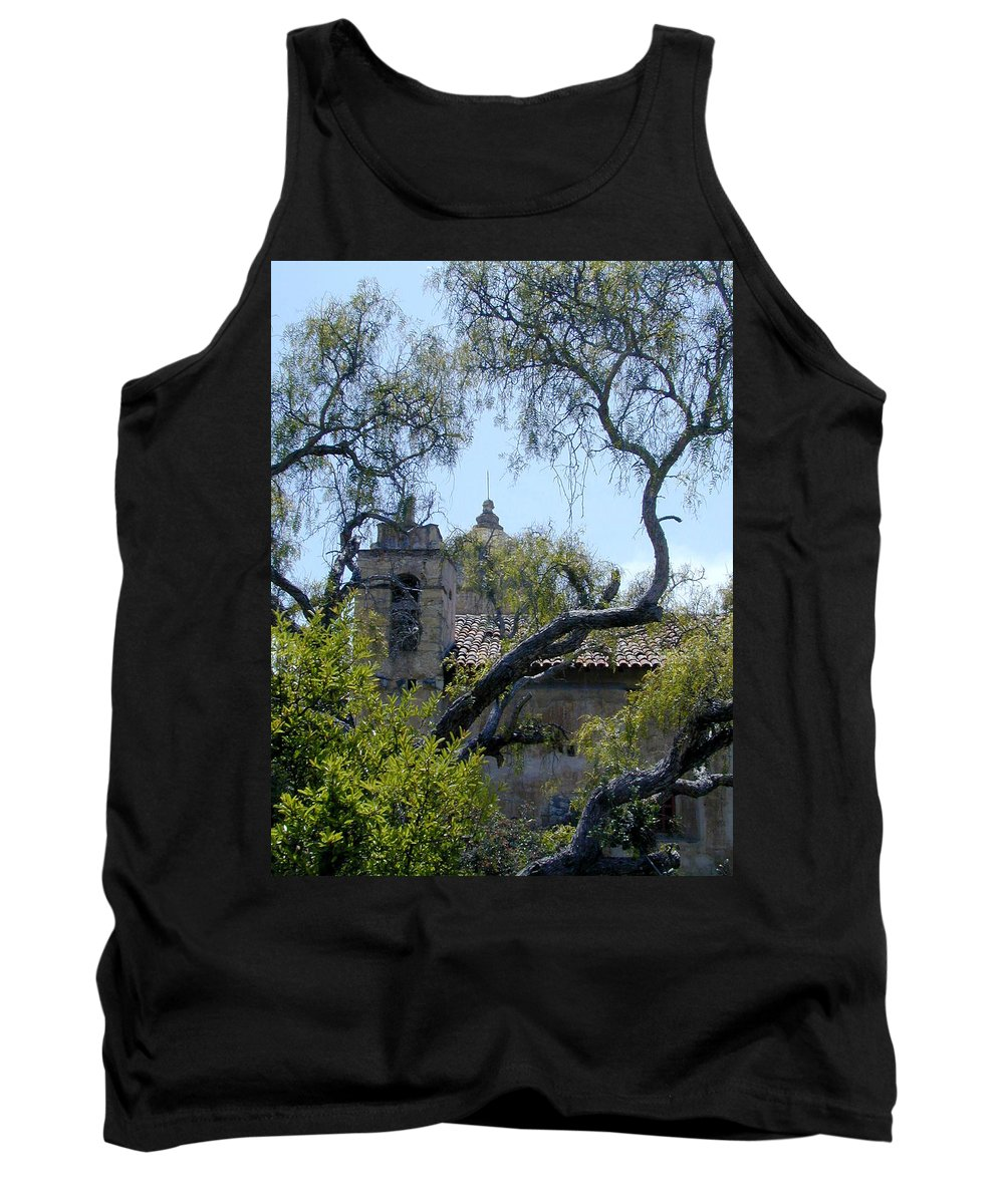 Mission Tank Top featuring the photograph Mission At Carmell by Douglas Barnett