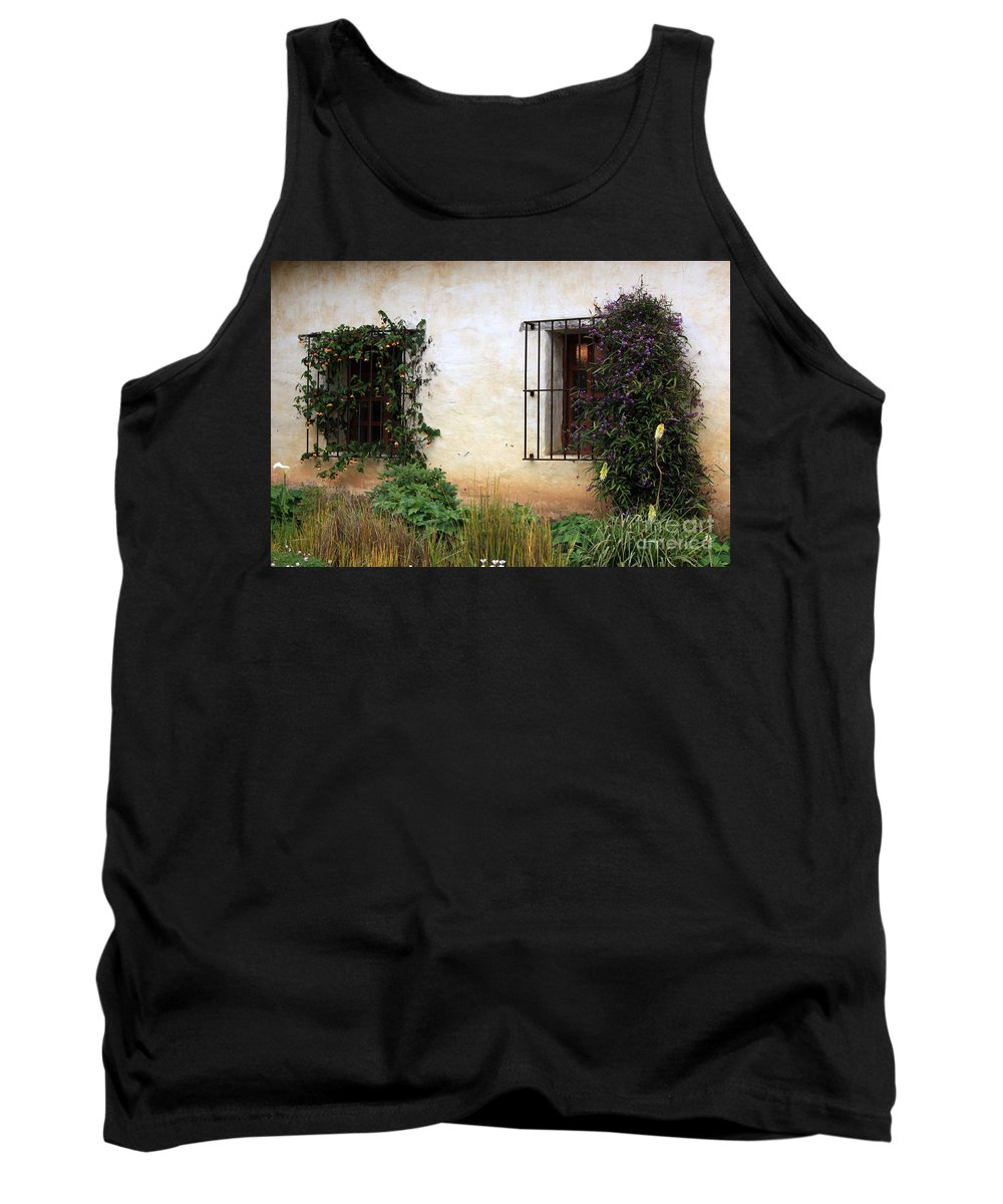 Vines Tank Top featuring the photograph Mission Windows by Carol Groenen