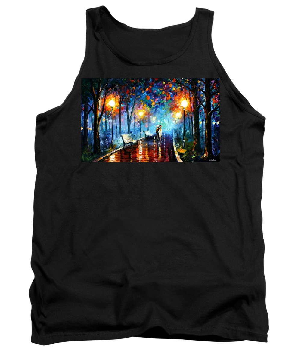 Afremov Tank Top featuring the painting Misty Mood by Leonid Afremov