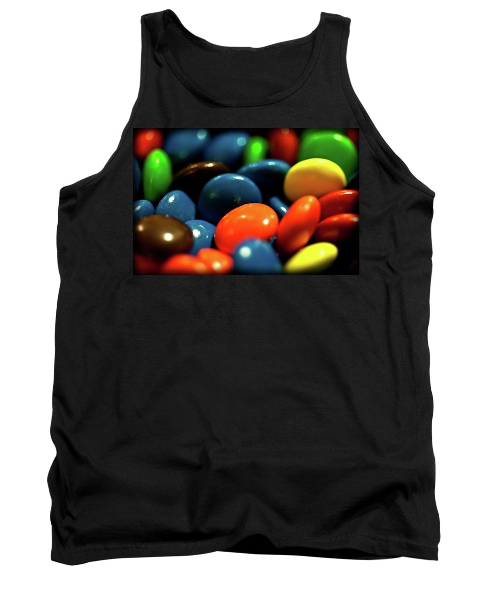 Chocolate Covered Candy Tank Top featuring the photograph Mmm Chocolate by Onyonet Photo Studios