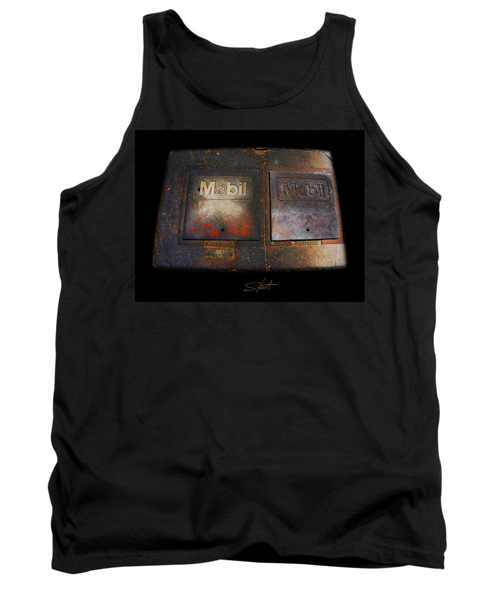 Mobil Tank Top featuring the photograph Mobil Two by Charles Stuart
