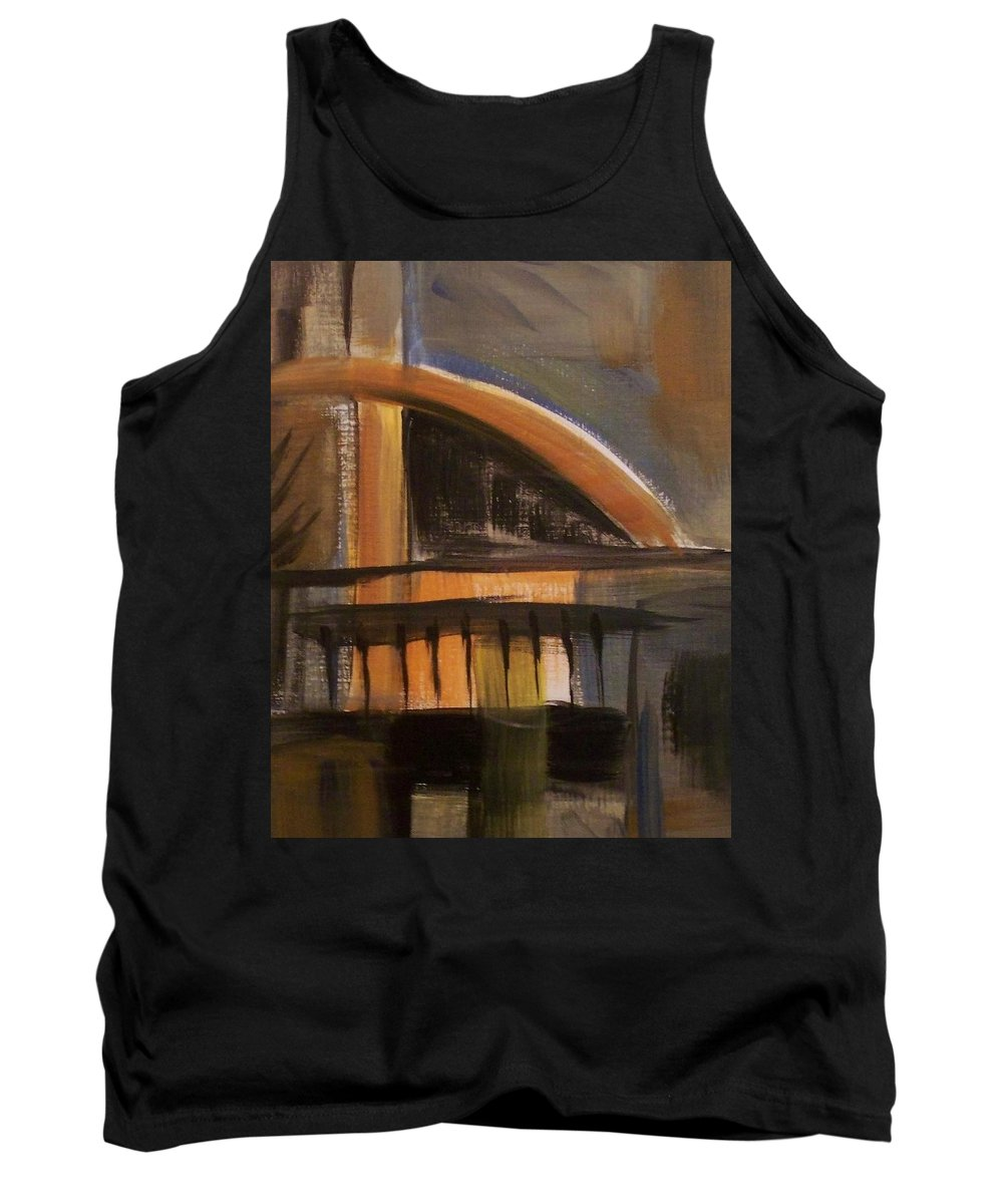 Abstract Tank Top featuring the painting Modern Architecure 2 by Anita Burgermeister