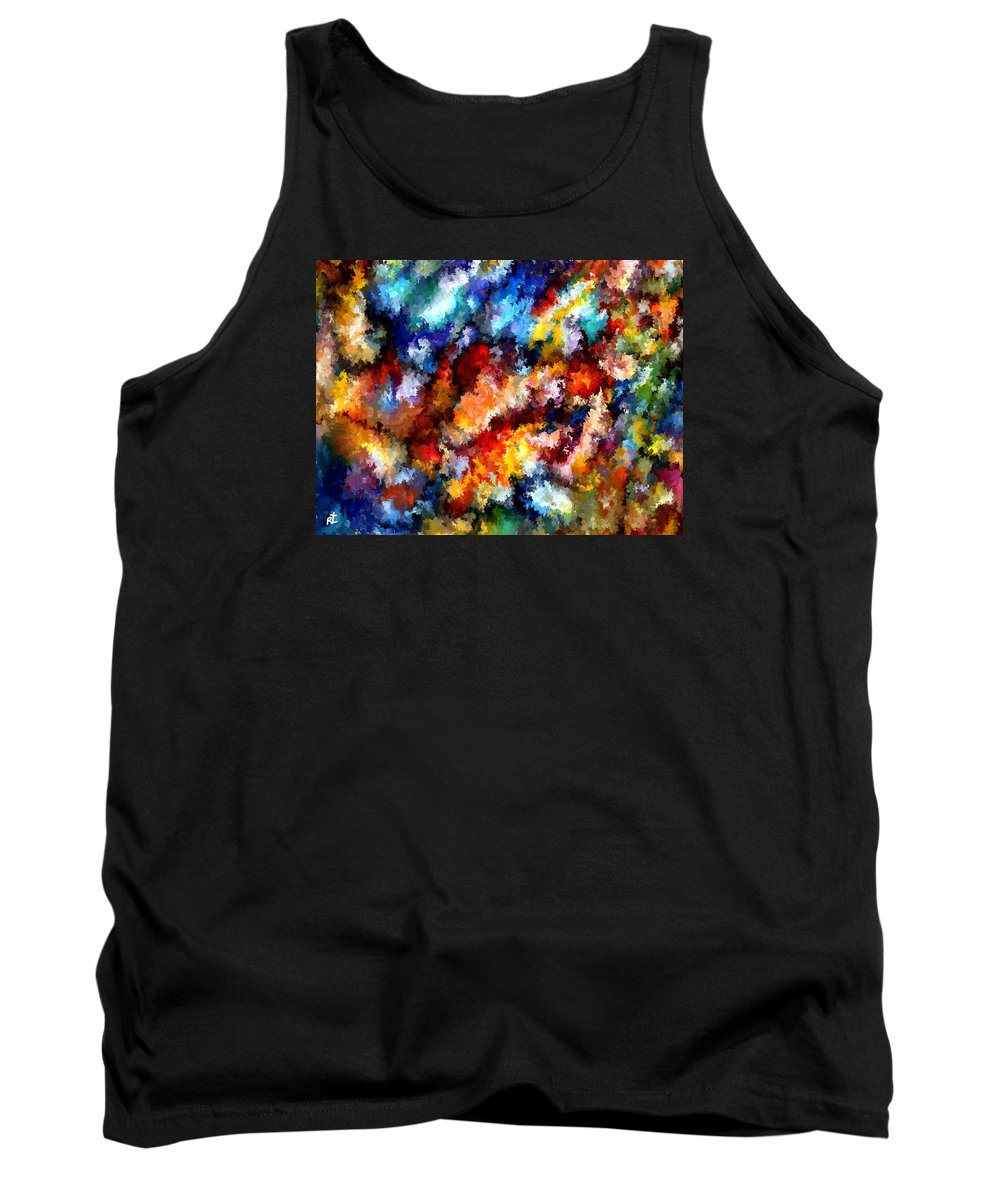 Contemporary Tank Top featuring the painting Modern Composition 06 by Rafi Talby