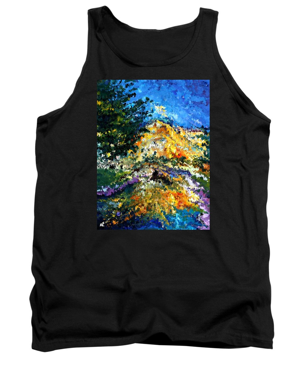 Contemporary Tank Top featuring the painting Modern Composition 08 by Rafi Talby