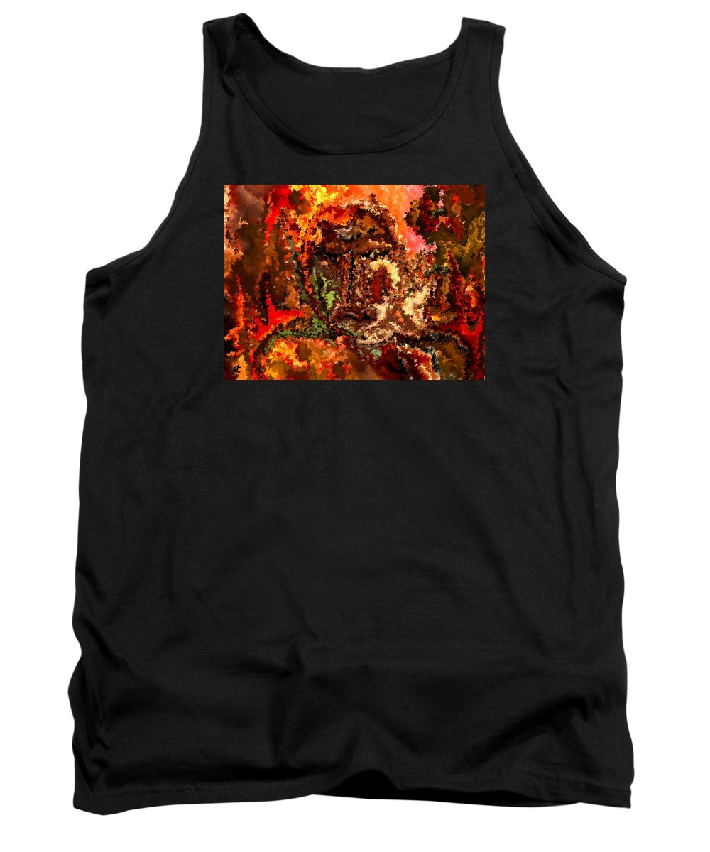 Contemporary Tank Top featuring the painting Modern Composition 19 by Rafi Talby