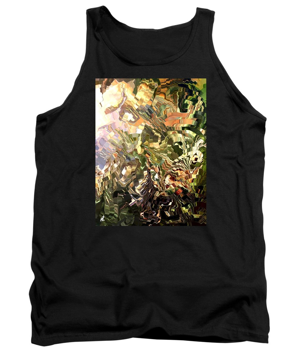 Contemporary Tank Top featuring the painting Modern Composition 28 by Rafi Talby