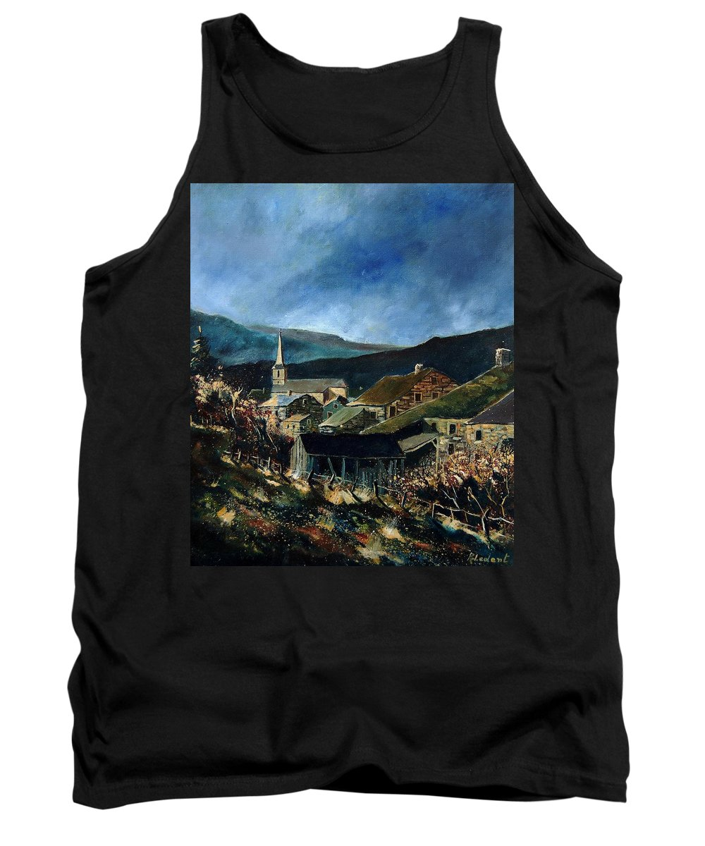 Village Tank Top featuring the painting Mogimont Village Ardennes by Pol Ledent