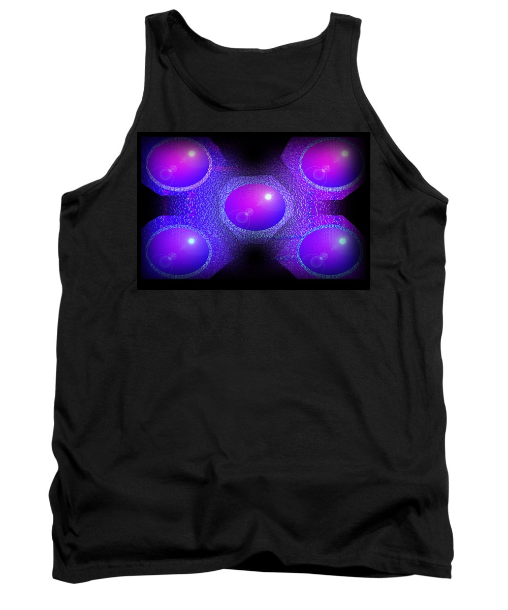 Molecule Tank Top featuring the digital art Molecules by XERXEESE Color Schemes