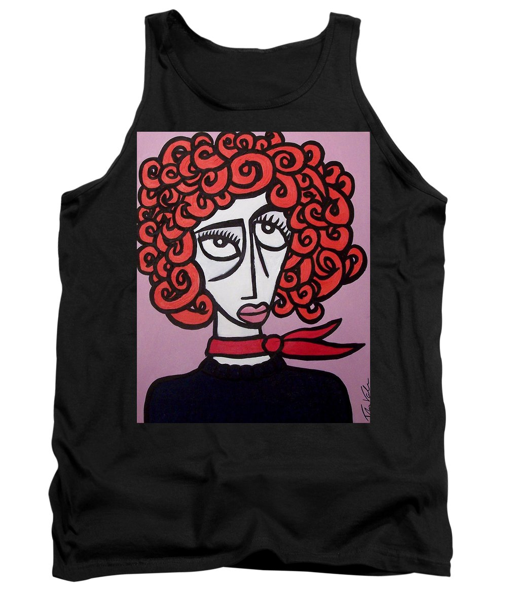 Portaits Tank Top featuring the painting Molly by Thomas Valentine