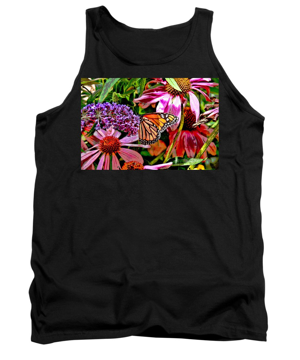 Orange Tank Top featuring the photograph Monarch Butterfly by Allen Beatty