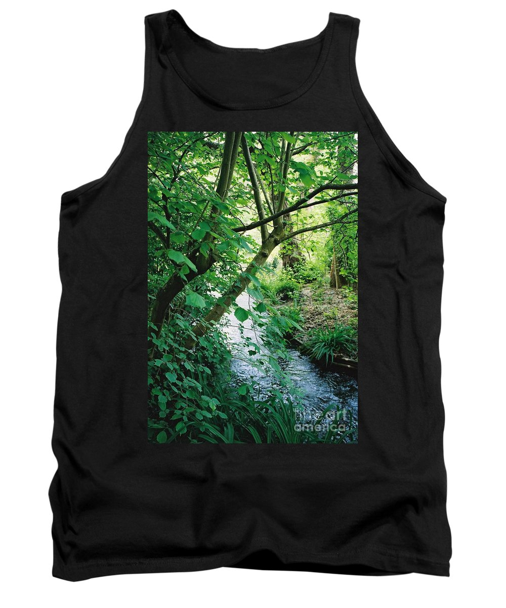 Photography Tank Top featuring the photograph Monet's Garden Stream by Nadine Rippelmeyer
