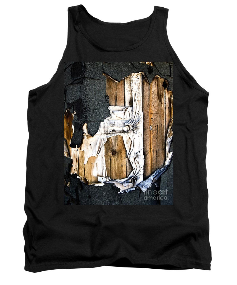 California Scenes Tank Top featuring the photograph Mono Hut Wall by Norman Andrus