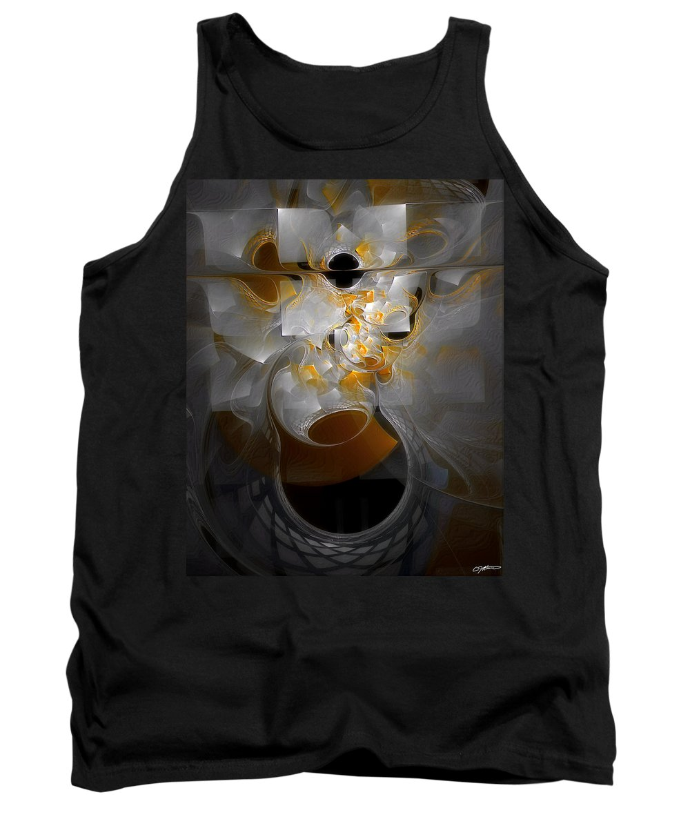 Abstract Tank Top featuring the digital art Monolith And Friends by Casey Kotas