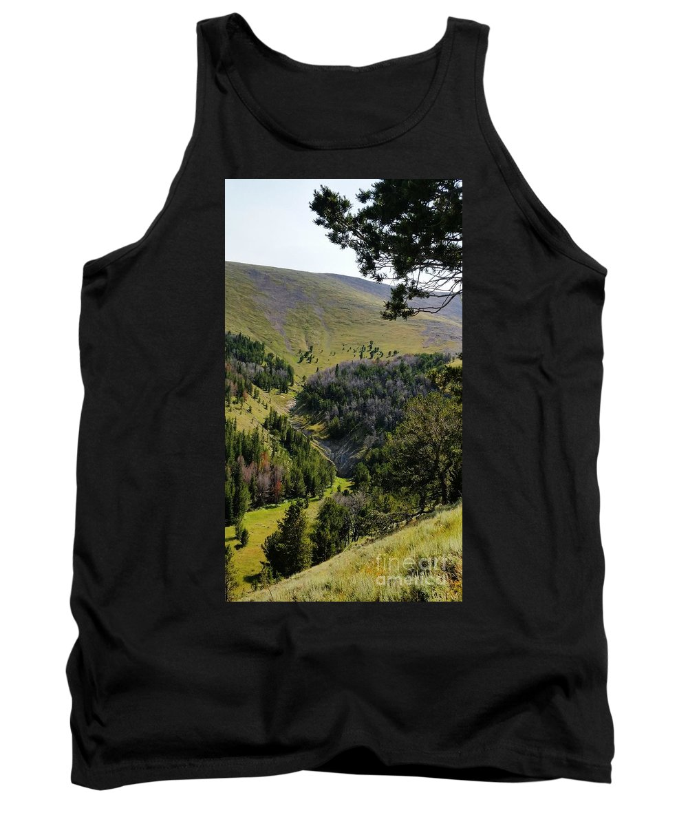 Landscape Tank Top featuring the photograph Montana Call Of The Wild by Fred Kamps