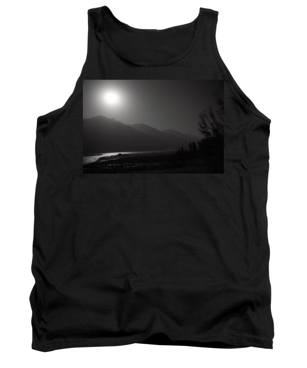 Asia Tank Top featuring the photograph Moon Above Pyandzh Valley by Konstantin Dikovsky
