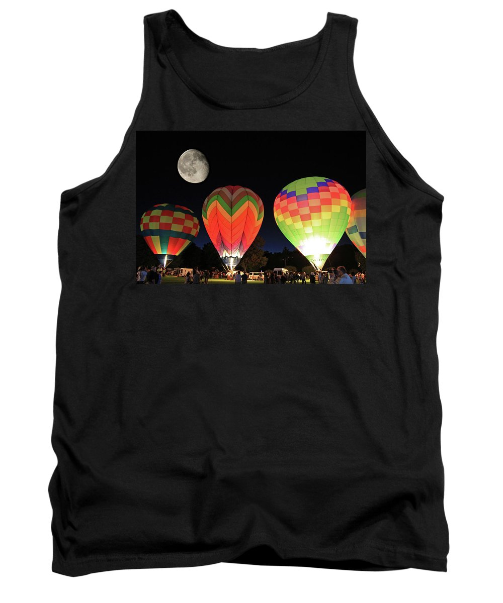 Moon Tank Top featuring the photograph Moon And Balloons by David Freuthal