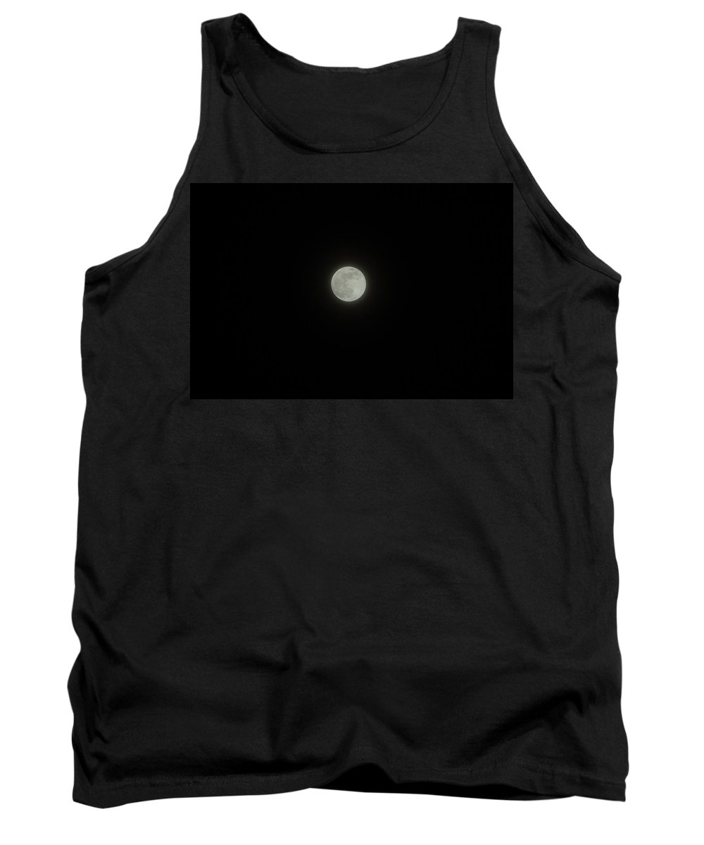 Sky Tank Top featuring the photograph Moon At Night by Alice Markham