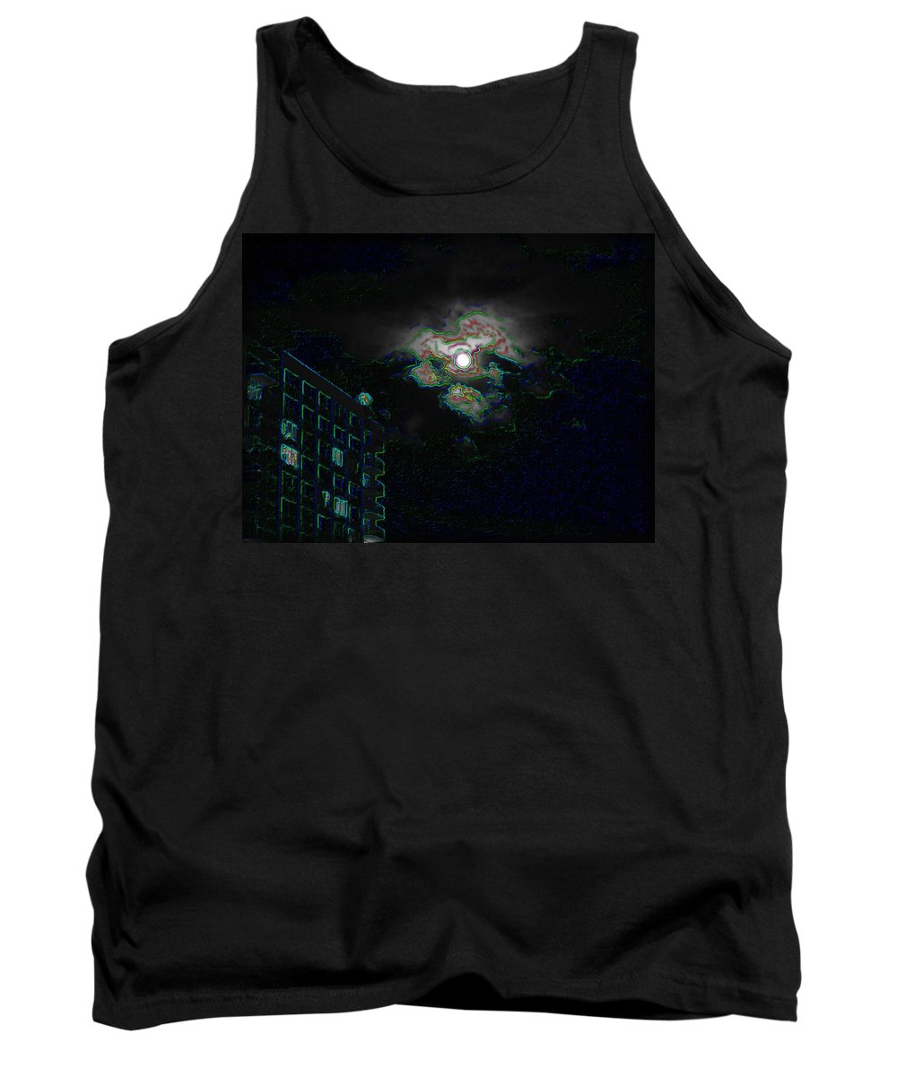 Moon Tank Top featuring the photograph Moon Glow by Tim Allen