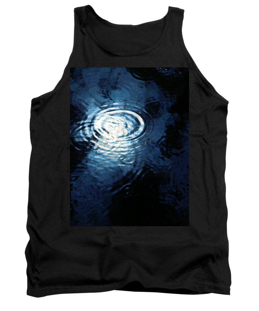 Moon Tank Top featuring the photograph Moon In The Water by Francesa Miller
