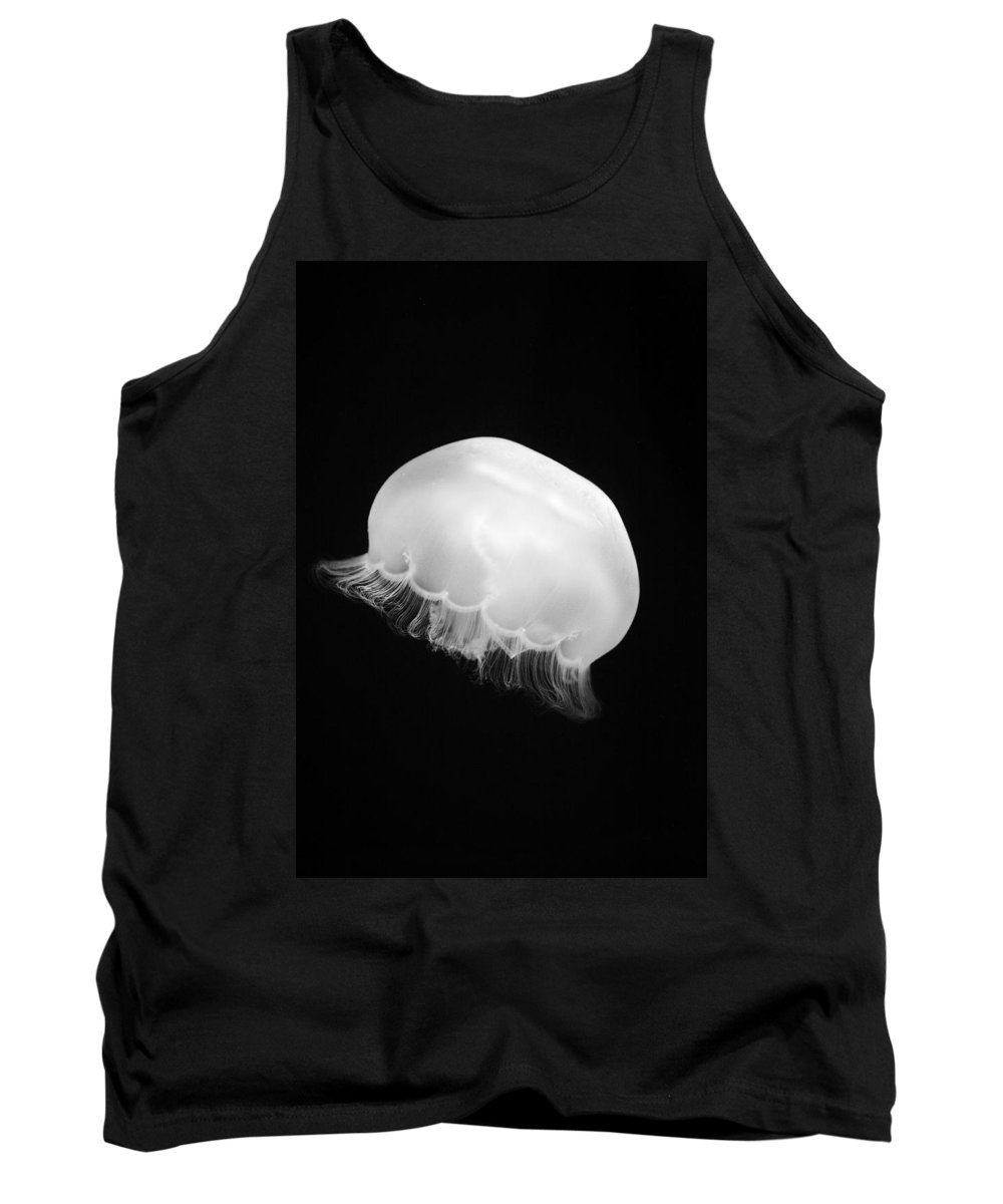 Animal Tank Top featuring the photograph Moon Jellyfish by Marilyn Hunt
