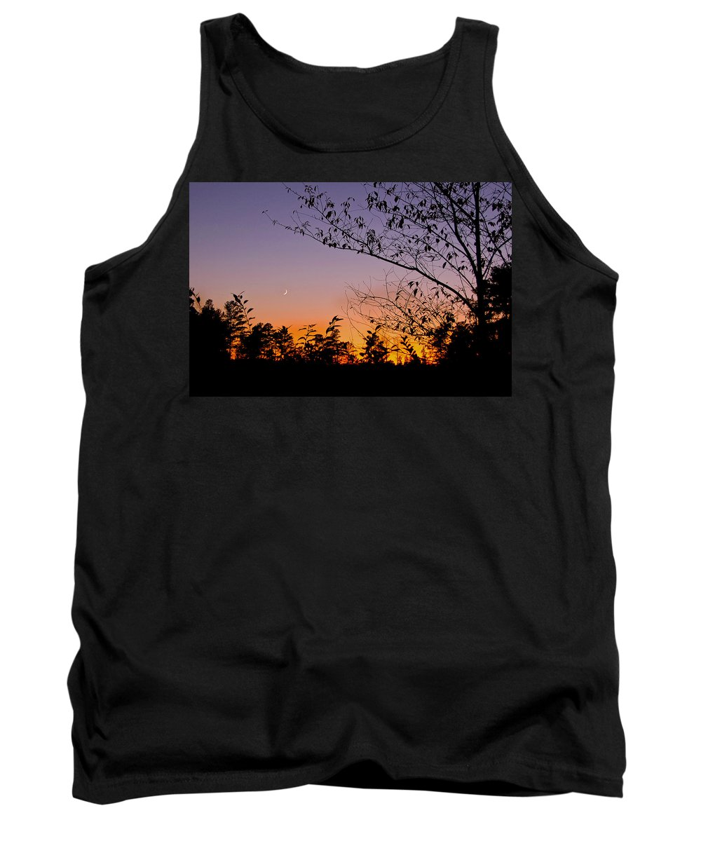 Moon Tank Top featuring the photograph Moon Rising by Gary Adkins