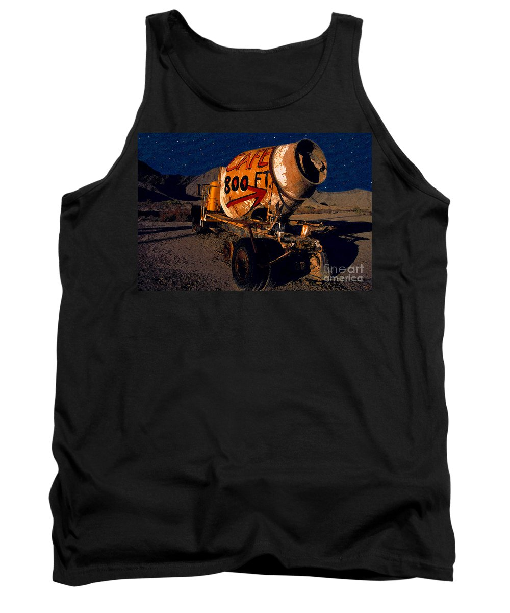 Moonlight Tank Top featuring the painting Moonlight Cafe by David Lee Thompson